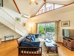 Custom Vaulted Ceilings, Bright, Open, Living Area!