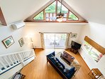 Open Beam Living Area, Air Conditioning or Ceiling Fan keeps the Home cool!