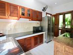 VILLA KITCHEN WITH LARGE REFRIGERATOR, COOKTOP AND OVEN