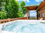 Hot Tub at Spice Mountain Lodge