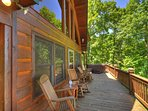 Long deck view - Hot tub at end of deck.