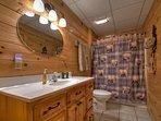 Lower level bathroom - Full bathroom.