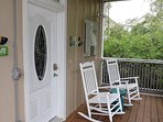 The screened porch is the perfect spot to pretend you are half a world away.