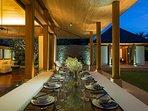 Villa Shanti - Outdoor dining ambience