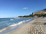 Spiaggia con sabbia finissima a Mondello