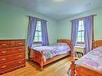 The 4th bedroom with 2 twin beds is perfect for the kids of the group.
