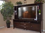 Large smart TV to watch your favorite streaming service. Cable included.