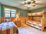 Kids can stay in this lovely bunk room.