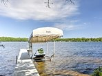 Up to 12 travelers will have access to Lake Chetac using the private dock.