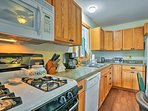 The fully equipped kitchen is perfect for whipping up some family meals!