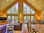 Lakefront living can be yours at this vacation rental cabin!