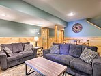 You'll find another living space in the finished basement.