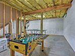 Play a round of foosball or a game of ping pong!