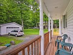 You can spend hours sitting on this expansive furnished deck.