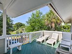 Fresh air awaits on the viewing deck.