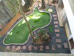 A mini golf pitch and putting green
