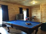 Eight Foot Slate Pool Table Downstairs in Family Room!