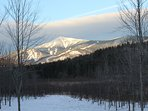 View of Whiteface Mountain at sunrise.
