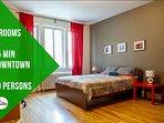 Aretha · Big Apt 10 people, 20 min downtown, 5 bedrooms