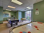 Get in touch with your inner child in the recreation room!