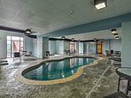 The resort features both an indoor and outdoor pool!