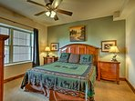 Additional guests will sleep soundly in the second bedroom, with a king bed.