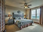 Retreat to the master bedroom for rest and relaxation!