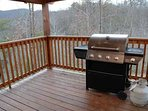 Outdoor Gas Grill at Four Seasons Lodge
