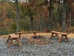 Fire Pit at Four Seasons Lodge