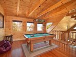 Lofted Game Room at Horse'n Around