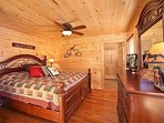 Main Level Bedroom at Horse'n Around