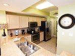 Kitchen Waters Edge Resort Unit 412 Fort Walton Beach Okaloosa Island Vacation Rentals