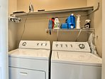 In-unit laundry machines are always handy!