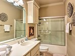 A second full bathroom provides added privacy.