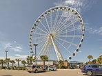 Enjoy views of the coast from the Skywheel!