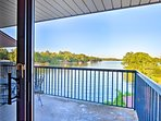 Sip your morning coffee while enjoying the scenic lake views.
