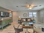 Carolina Beach shores await just 2 blocks from this vacation rental home.