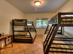 Downstairs bunks for four