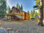 Back of this luxury Tahoe home