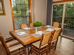 Dining table seating for six