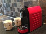 Nespresso style coffee maker