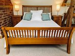 Bedlinen is provided with percale cotton, feather duvets and pillows