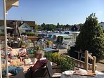 View from the Wroxham hotel. Lovely cream teas by the broads