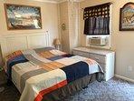 Queen size bed w/ TV