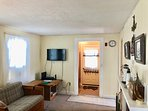 Living room with flat screen TV, and WiFi - 15 Park Place Harwich Port Cape Cod New England Vacation Rentals