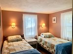Bedroom # 2 with 2 Twins and flat screen TV - 15 Park Place Harwich Port Cape Cod New England Vacation Rentals