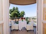 Table at balcony