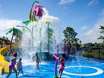 New Water Slide & Fountains