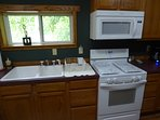 Gas cooking stove, microwave, dishwasher