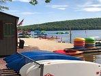 Boat rental at lake